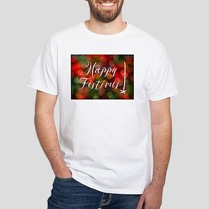 happy festivas bokeh lights T-Shirt