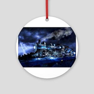 Midnight Express Round Ornament