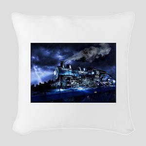 Midnight Express Woven Throw Pillow