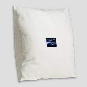 Midnight Express Burlap Throw Pillow