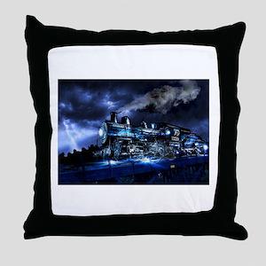 Midnight Express Throw Pillow