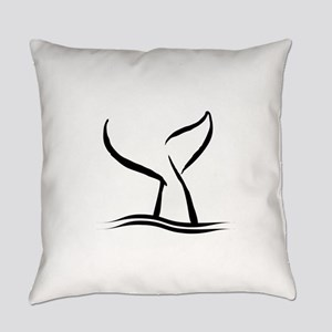 Whale Tail Everyday Pillow