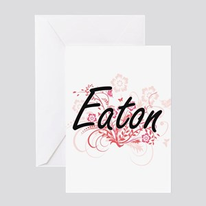 Eaton surname artistic design with Greeting Cards