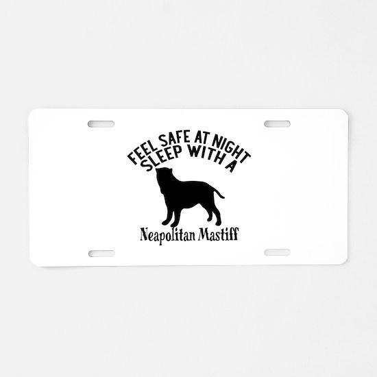 Feel Safe At Night Sleep Wi Aluminum License Plate