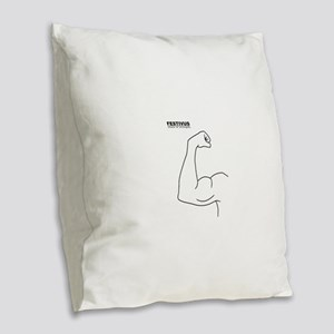 FESTIVUS™ feats of strength Burlap Throw Pillow