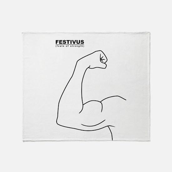 FESTIVUS™ feats of strength Throw Blanket