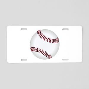 Baseball Game Time Aluminum License Plate