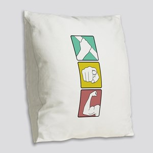 FESTIVUS™ illustrated Burlap Throw Pillow