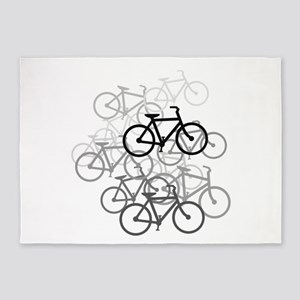 Bicycles Design 5'x7'Area Rug