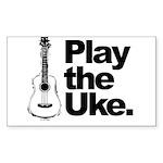 Play Uke Sticker (Rectangle)