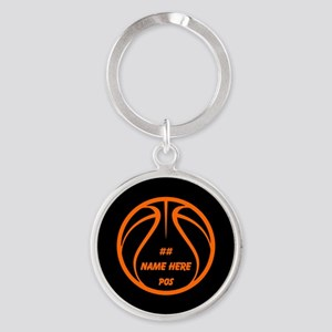 Personalized Basketball Name Number Orange Black K