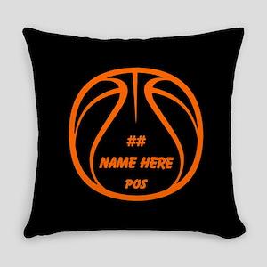 Personalized Basketball Name Number Orange Black E