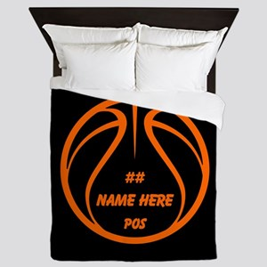 Personalized Basketball Name Number Orange Black Q