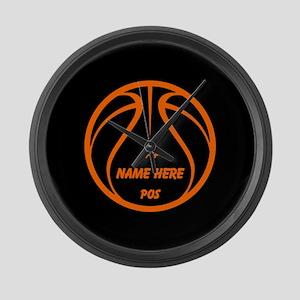 Personalized Basketball Name Number Orange Black L