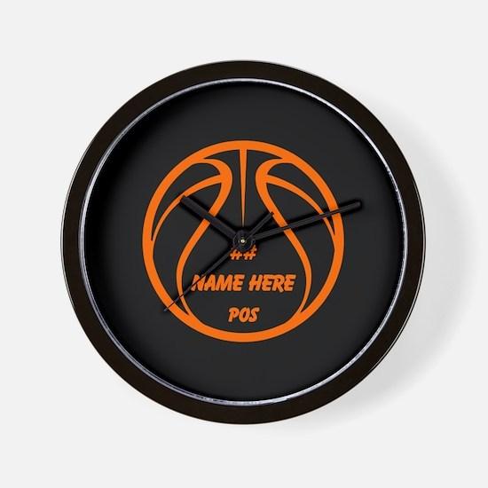 Personalized Basketball Name Number Orange Black W