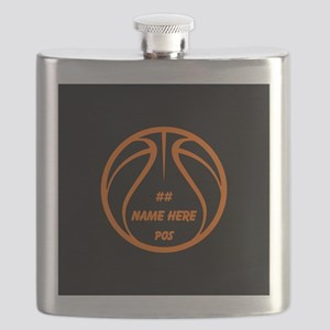 Personalized Basketball Name Number Orange Black F