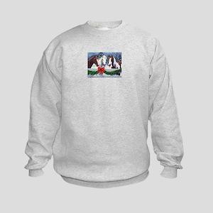 Christmas Horses Kids Sweatshirt