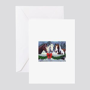 Christmas Horses Greeting Cards