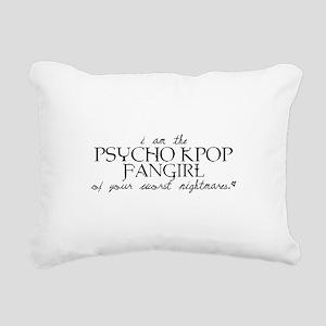 Psycho Kpop Fangirl Rectangular Canvas Pillow