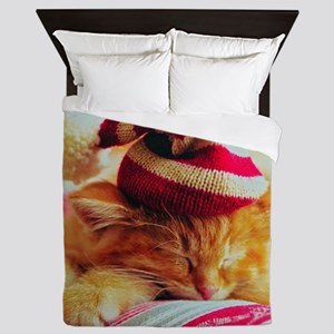 Christmas Kitty Queen Duvet