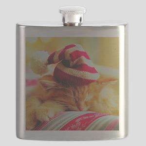 Christmas Kitty Flask