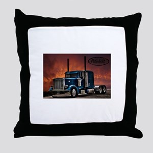 Peterbilt Long nose Throw Pillow