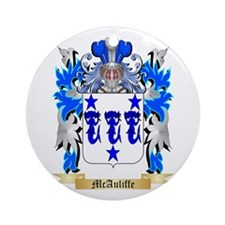 McAuliffe Round Ornament