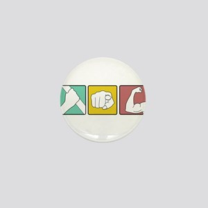 FESTIVUS™ retro illustration Mini Button