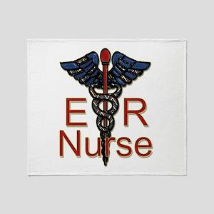 ER Nurse Throw Blanket