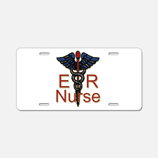 ER Nurse Aluminum License Plate