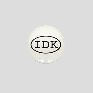 IDK Oval Mini Button
