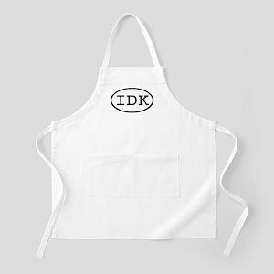 IDK Oval BBQ Apron