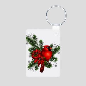 CARDINAL/PINE Aluminum Photo Keychain