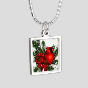 CARDINAL/PINE Silver Square Necklace