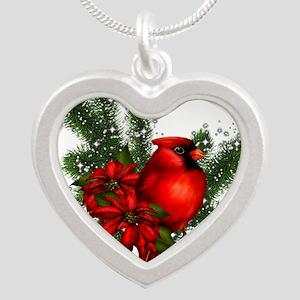 CARDINAL/PINE Silver Heart Necklace