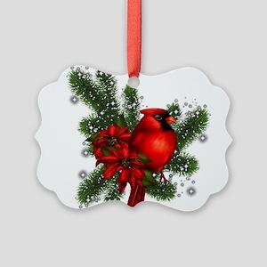 CARDINAL/PINE Picture Ornament