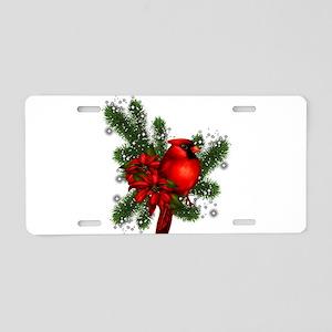 CARDINAL/PINE Aluminum License Plate