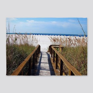 Walk on the Beach 5'x7'Area Rug