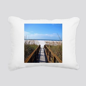 Walk on the Beach Rectangular Canvas Pillow