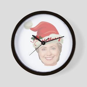 Hillary Clinton Holiday Wall Clock