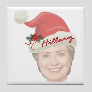Hillary Clinton Holiday Tile Coaster