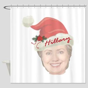 Hillary Clinton Holiday Shower Curtain
