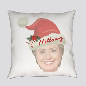 Hillary Clinton Holiday Everyday Pillow