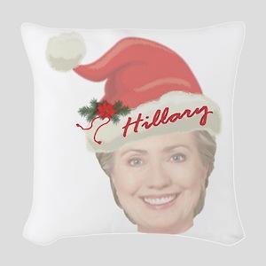 Hillary Clinton Holiday Woven Throw Pillow