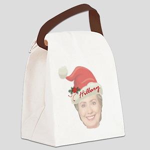 Hillary Clinton Holiday Canvas Lunch Bag