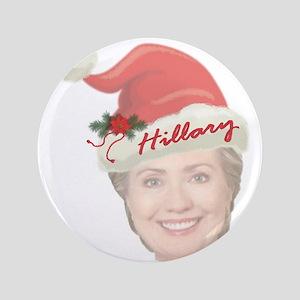 Hillary Clinton Holiday Button
