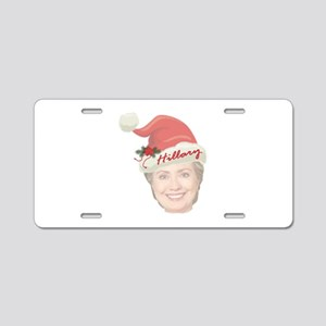 Hillary Clinton Holiday Aluminum License Plate