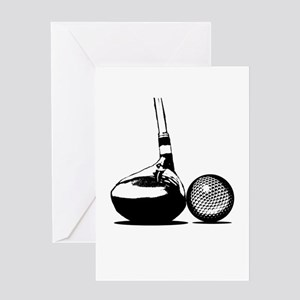 Golf Club and Golf Ball Greeting Cards