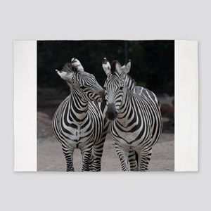 Zebra005 5'x7'Area Rug