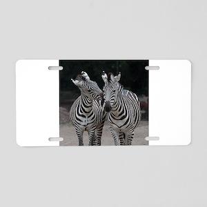 Zebra005 Aluminum License Plate